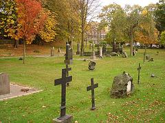 Cimetière de Helsingborg- Helsingborg cemetery - Sweden / Suède - Croix et monuments- Crosses and gravestones / 22 octobre 2008
