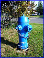 Borne à incendie - Firemen spring  /    Vive le BLEU !!!!!!   I love the BLUE color !!!!   Dans ma ville - Hometown.