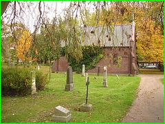 Cimetière de Helsingborg- Suède - Brick chapel- Chapelle de briques / 22 octobre 2008.