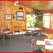 Killington Pico Motor Inn.  Breakfast room / Salle à manger - Killington, Vermont. USA.  August 7th 2008.