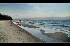 Winterday on the beach