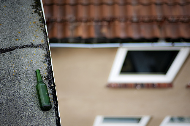 Bottle on the roof