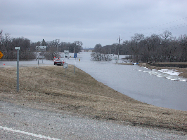 Spring flooding on the Red River