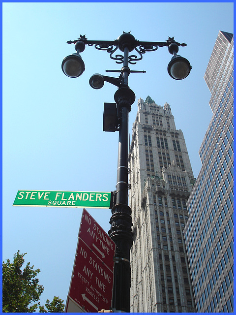 Steve Flanders square - NYC / 19 juillet 2008.