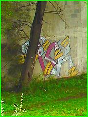 Graffitis et dessins artistiques. Hometown / Dans ma ville.  24 juillet 2008