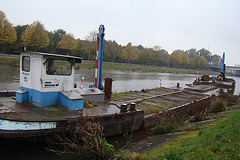 Oud schip op de Schelde te Oudenaarde