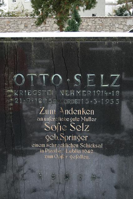 Grabstein Otto Selz aus Straubing, ermordet 1933