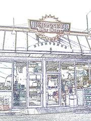Ultramar- Dépanneur du coin. Photofiltre- dessin .  Ultramar -  Chaîne de stations-service au Québec /  Famous gas stations in Quebec, CANADA. Dans ma ville / Hometown.