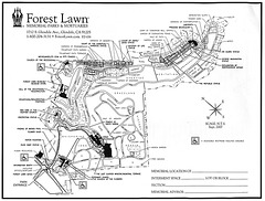 Forest Lawn Glendale map