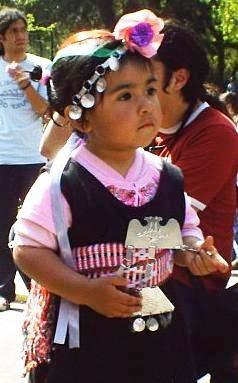 Niña mapuche, Chili