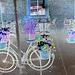 Vélo en fleurs- Flowery bike- NYC. USA / July 19th 2008.