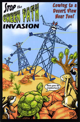 Green Path Invasion postcard