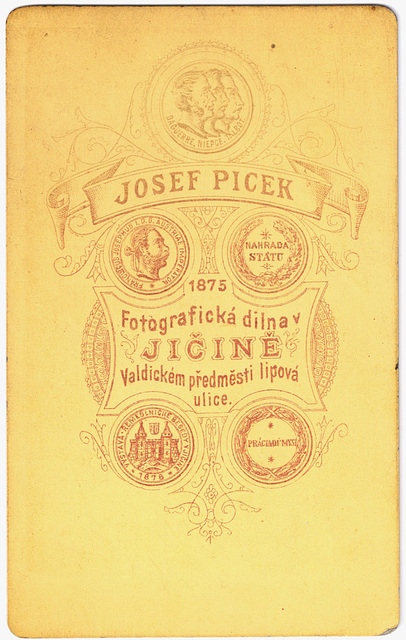 Portrait of an Austro-Hungarian Feldwebel: verso