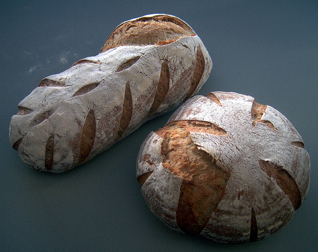 Pane Francese 3 and 4 (Whole-Wheat Spelt and Kamut)