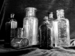 Bottles Group b&w