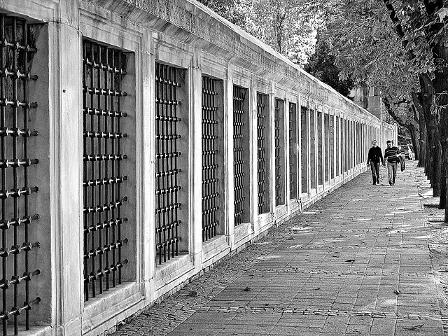 Walking by the wall
