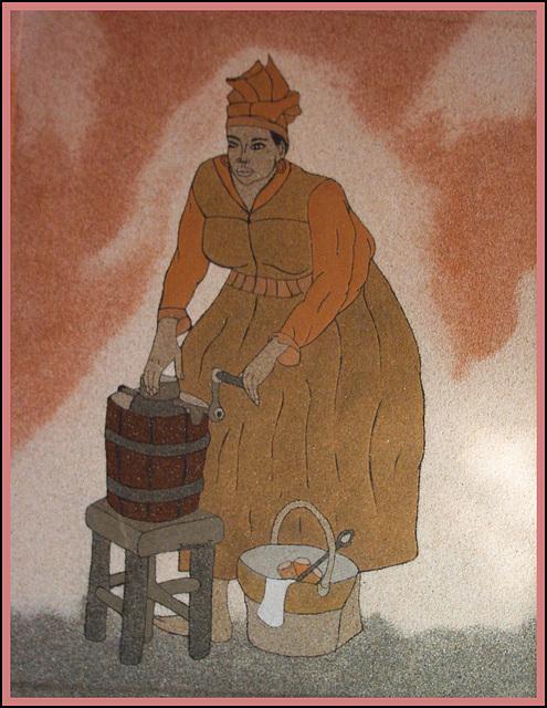 La marchande de sorbets, œuvre de Josie Balzamont