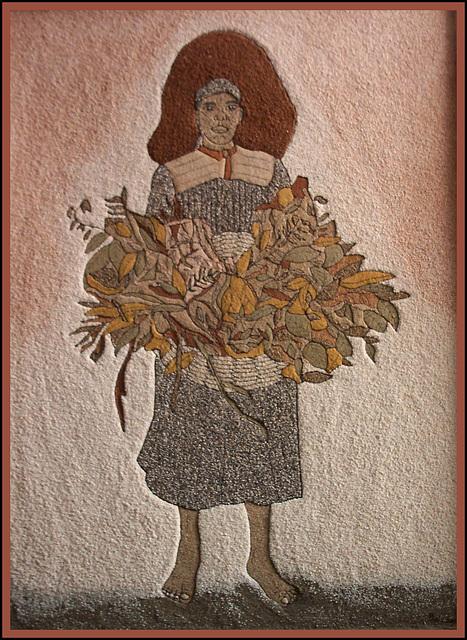 La marchande de fleurs, œuvre de Josie Balzamont
