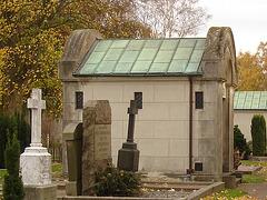 Cimetière de Helsingborg-  Helsingborg cemetery- Suède / Sweden - En haut de la colline /  Up the hill.