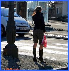 Lilette la pipelette / A street candid gift - un cadeau de photo de la rue