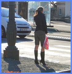 Lilette la pipelette / A street candid gift -  un cadeau de photo de la rue - Décembre 2008 - Photo originale / Original shot