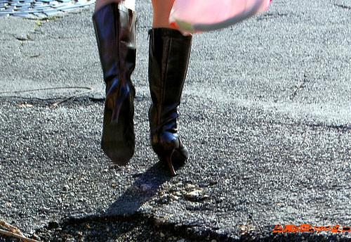 Lilette la pipelette / A street candid gift -  Un cadeau de photo de la rue - Originale - Décembre 2008
