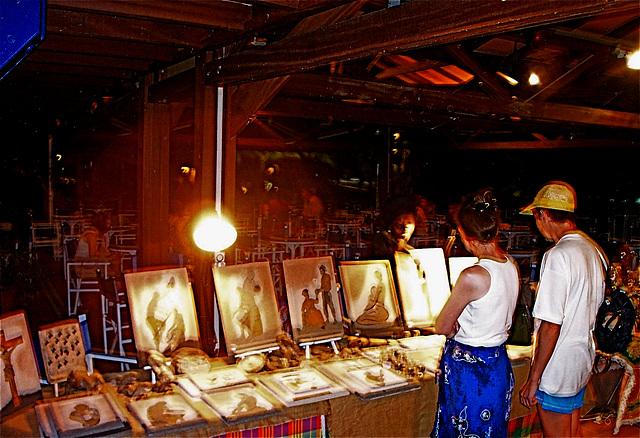Exposition tableaux en sables, Guadeloupe
