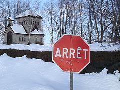 Tour St-Benoit de l'abbaye de St-Benoit-du-lac  /  Québec. CANADA - Février 2009