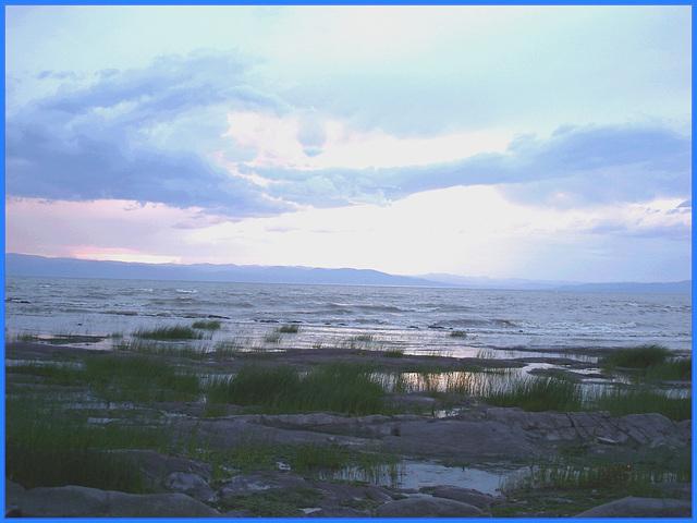 Coucher de soleil / Sunset - St-Jean-Port-Joli - Qc, CANADA. 21 juillet 2005.