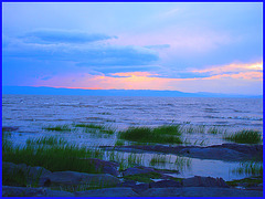 Coucher de soleil / Sunset - St-Jean-Port-Joli, Québec. CANADA - 21 juillet 2005.