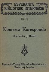 J. Borel: Komerca Korespondo 1922