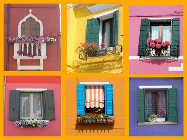 Les fenêtres de Burano, Italie