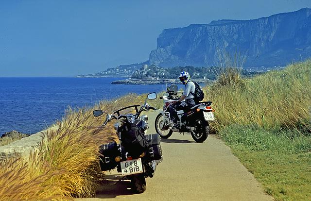 Coast road near Capo Gallo