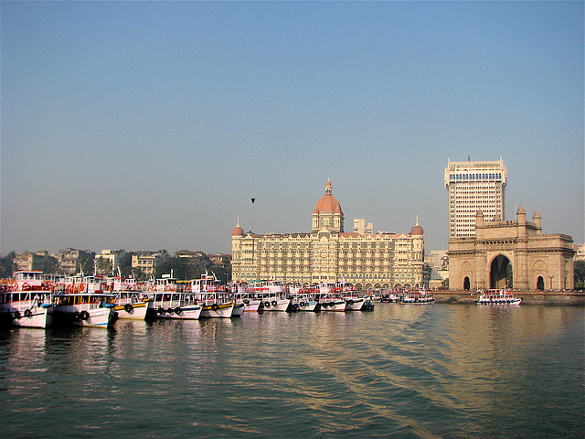 Taj Hotel and Gateway of India