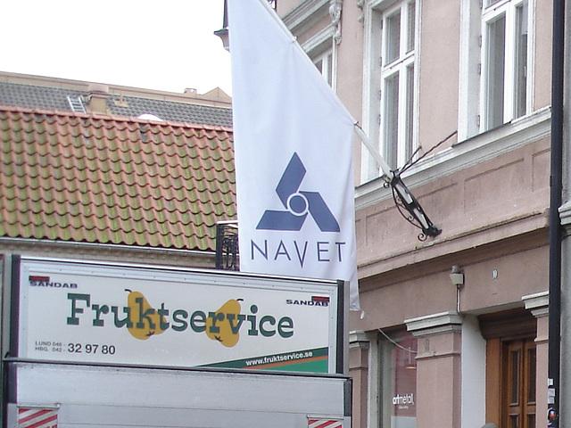 Navet sur drapeau / Frutkservice & Navet scenery  -  Helsingborg / Sweden - Suède.   22 octobre 2008