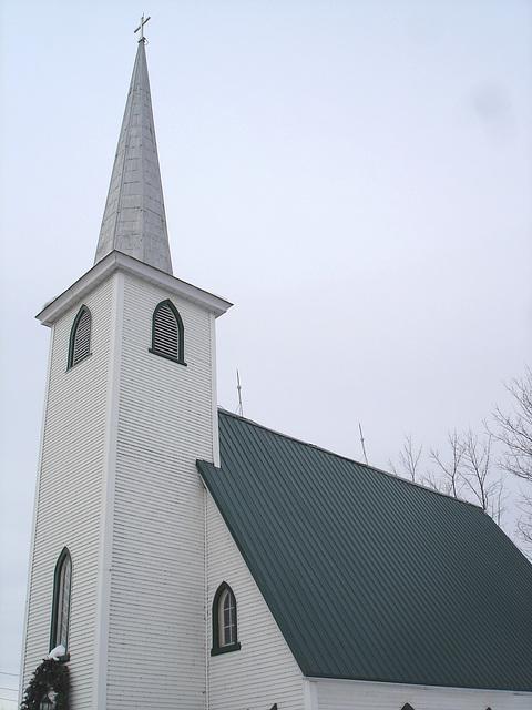 Église St-Augustin de Cantorbery- Austin. Québec- CANADA /   7 février 2009