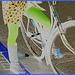 APJ cell phone blond biker in flat boots  / Copenhagen -  October 20th 2008 - Negative effect