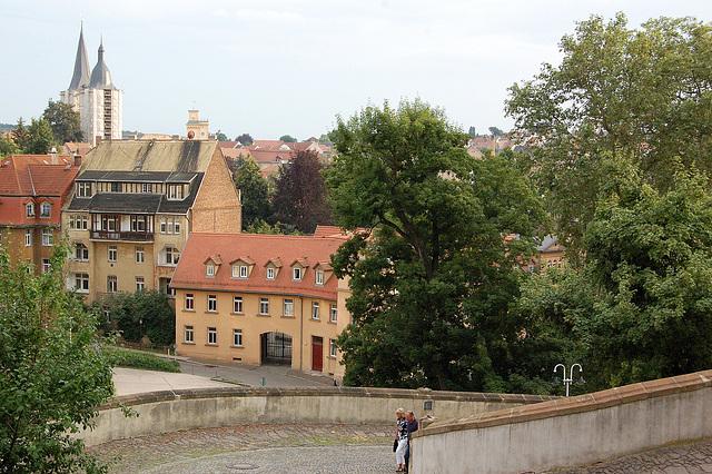 Schlossaufgang - alirejo al la kastelo