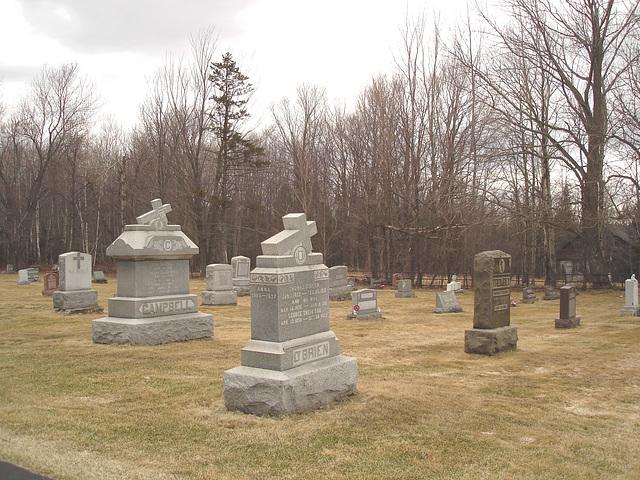 Immaculate heart of Mary cemetery - Churubusco. NY. USA.  March  29th 2009  -   O' Brien....