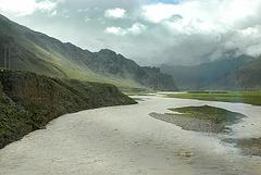 The Tsang Po river also called Yarlung Zangbo River