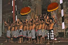 Kecak dancers
