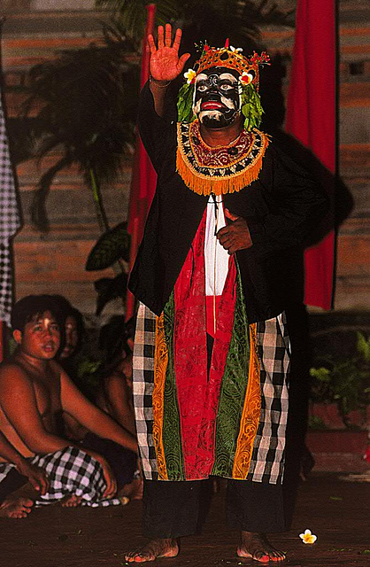 King Ravana's slave at the Kecak dance