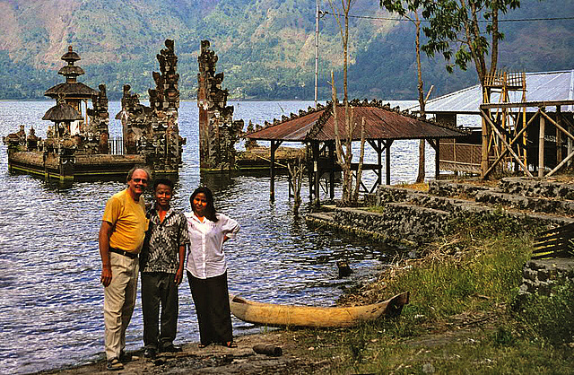 At the seaside of the Lake Batur