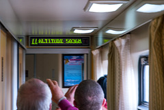 Info display inside the train coach