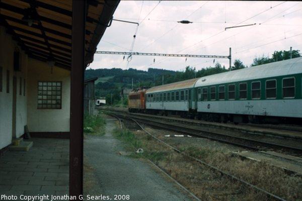 Train at Olbramovice, Bohemia (CZ), 2008