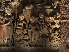 Ajanta sculpture: music and dance.