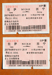 The tickets for a sleeping car
