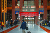 The gate to board the train to Xining