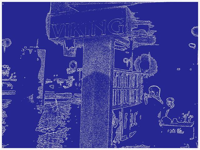 Pub & restaurang Viking  /  Helsingborg - Suède / Sweden - Bleu Viking