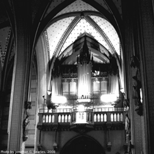 Pipe Organ, Picture 7, Katedral sv. Vaclava, Olomouc, Moravia (CZ), 2008